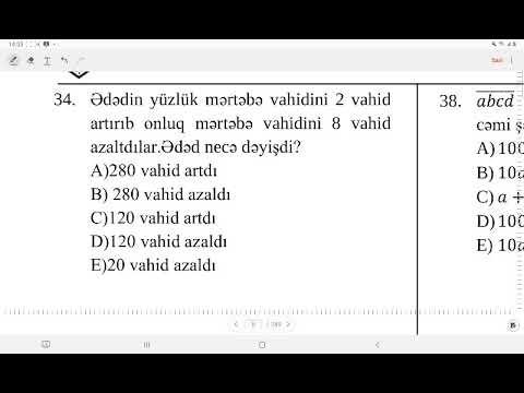 Sürət Məsələləri-1.Ağabəyli İsaməddin.