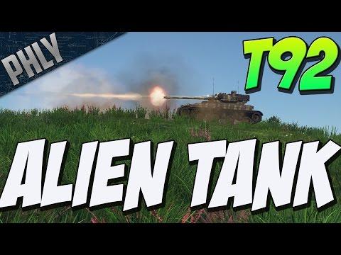 ALIEN TANK- T92 Light TANK (War Thunder Tanks Gameplay)