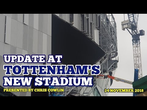 UPDATE AT TOTTENHAM'S NEW STADIUM: Busy Day, Facts and Pochettino Comments: 24/11/2018