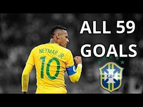 Neymar Jr ● ALL 59 GOALS FOR BRAZIL | 2010-2018 HD