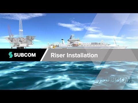 SubCom - Oil & Gas Platform Riser Cable Install - Undersea Fiber Optic System