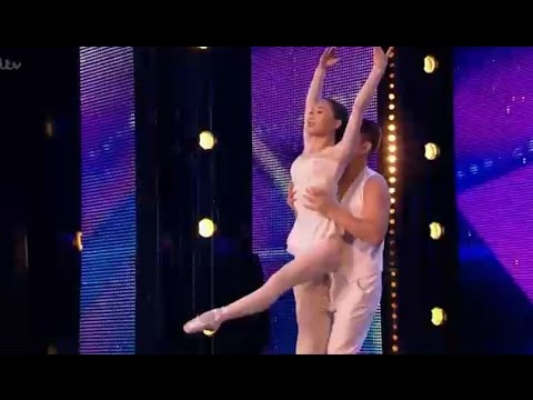 Cute Chinese Couple ROMANTIC Moves | Auditions 2 | Britain's Got Talent 2017