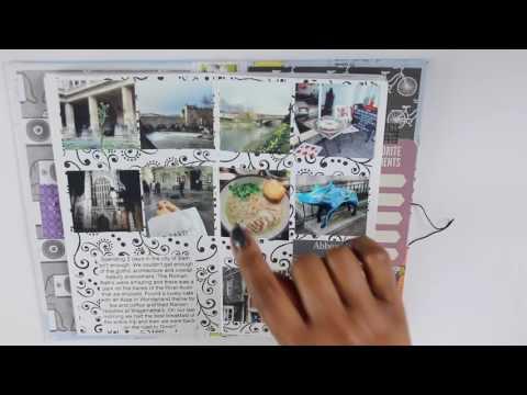 Europe Travel Journal Flip Through