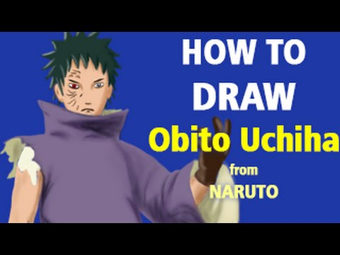 How to Draw Obito Uchiha from Naruto [Speed Painting ...