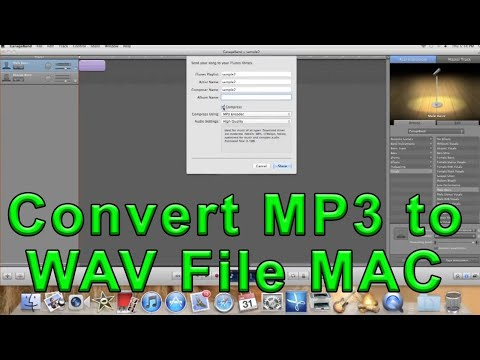 Convert MP3 to WAV File MAC ~ A How to Video Guide