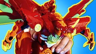 HUGE 8-Inch Dragon Action Figure Roars and Lights Up!