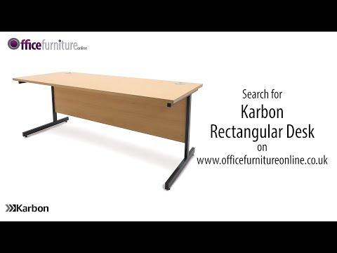 Karbon K1 Rectangular Office Desk Features