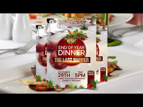 How To Design a CHURCH CHRISTMAS DINNER FLYER | Photoshop Tutorial thumbnail