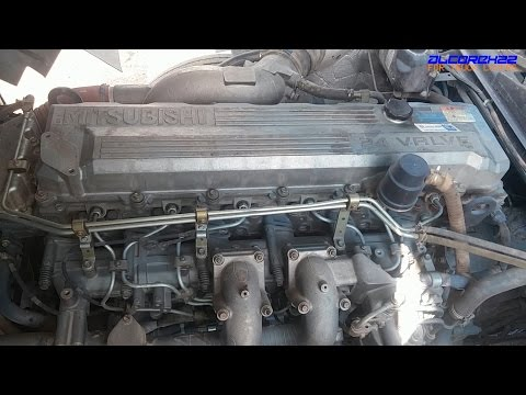 Mitsubishi Fuso 6M70 Engine View YouTube