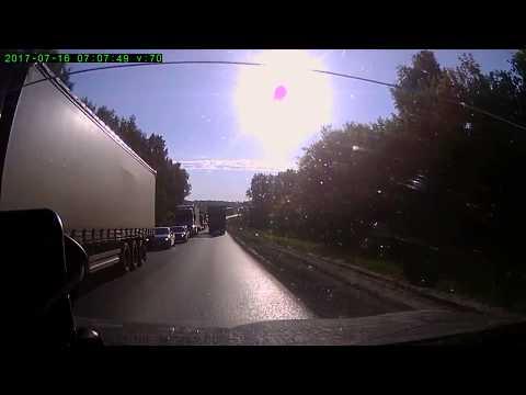 Пробка на трассе М7 между Нижним Новгородом и Чебоксарами 16.07.2017