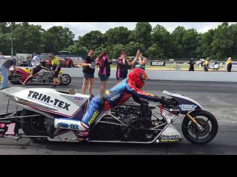 Larry McBride vs. Dave Vantine Top Fuel Motorcycle