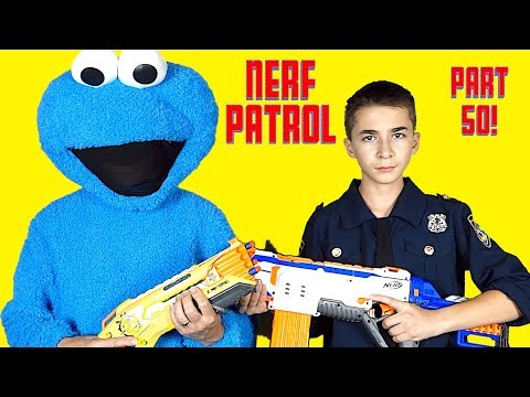 Nerf Patrol Battles the Cookie Monster and 50th Episode Celebration!