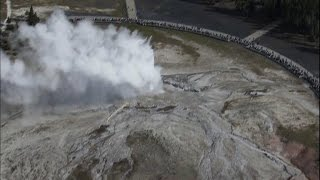 Old Faithful from the Air