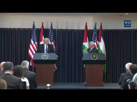 President Trump Gives Remarks with President Abbas