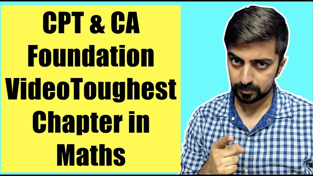 CA CPT Maths Videos. I know we are late but lets try - YouTube