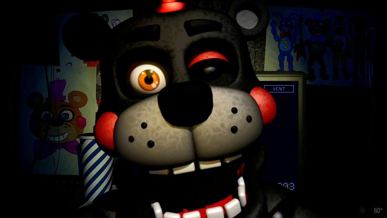 Freddy Fazbear's Pizzeria Simulator lefty JUMPSCARE (fnaf 6)