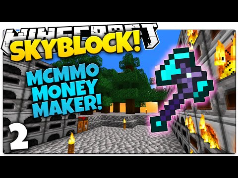 Minecraft Skyblock | MCMMO KING! (Minecraft Skyblock Mini Series #2)