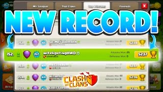 NEW RECORD SET! - Clash of Clans - HITTING LEGENDS + TOP 200 US!