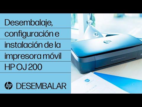 Desembalaje, configuración e instalación de la impresora móvil HP OfficeJet 200   HP OfficeJet   HP