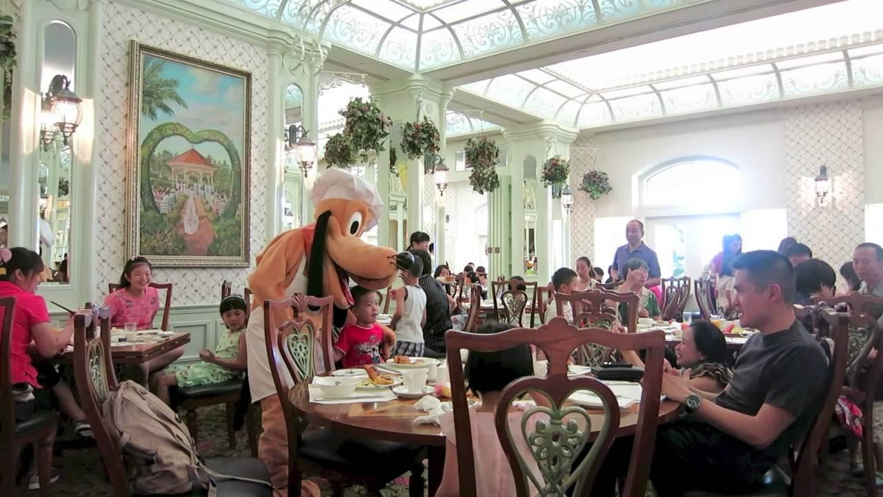 Hong Kong Disneyland Hotel Character Breakfast HKDL - YouTube