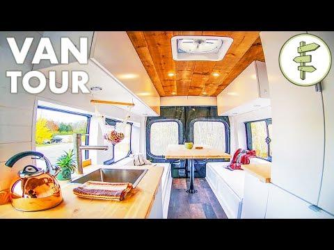 diy-camper-van-with-indoor-shower-&-100%-solar-(no-propane)---van-life-tour