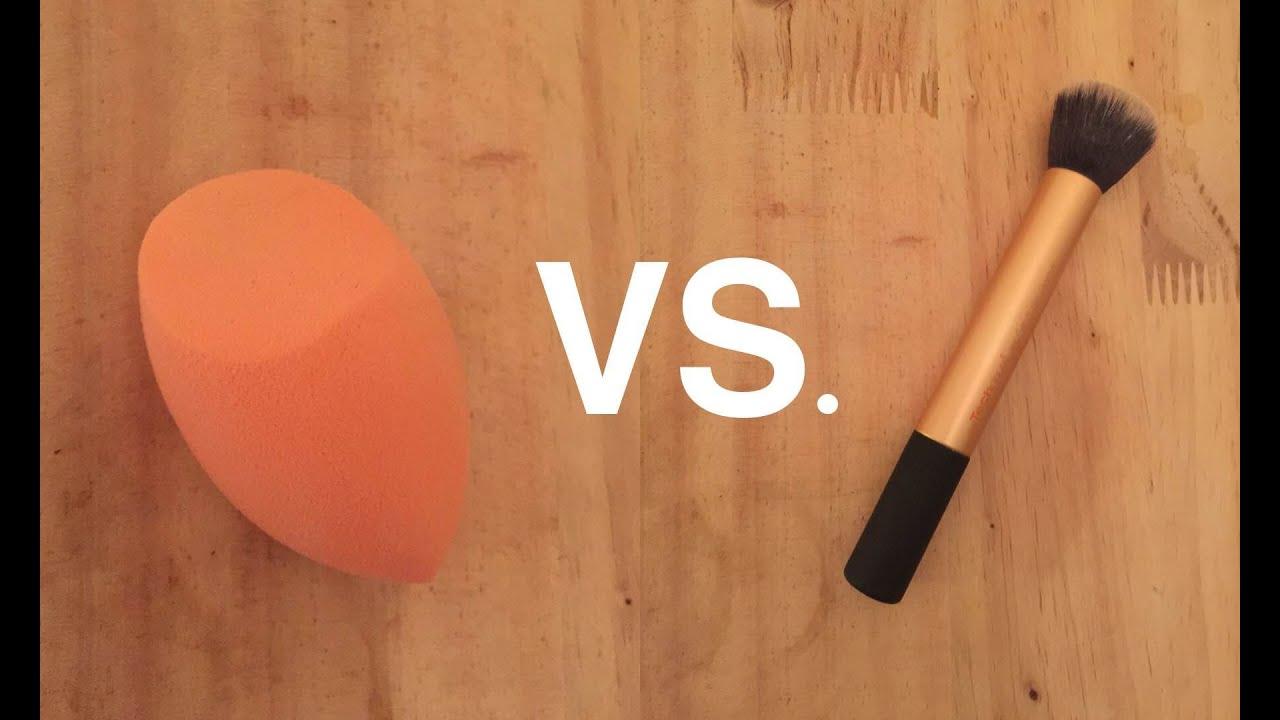 Makeup sponge vs brush
