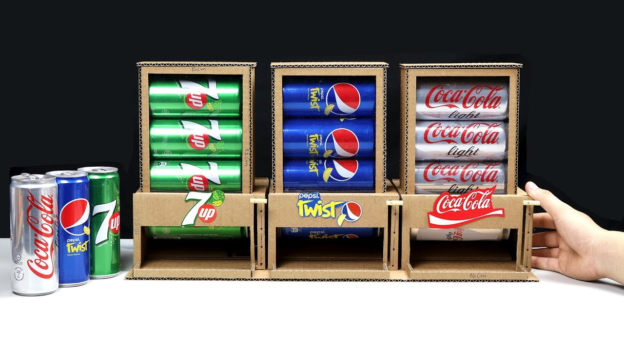 How to Make 3 Different Drinks Vending Machine - YouTube