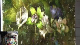 ТЕСТ - Букет экзотических цветов - завершение мастер-класса живописи