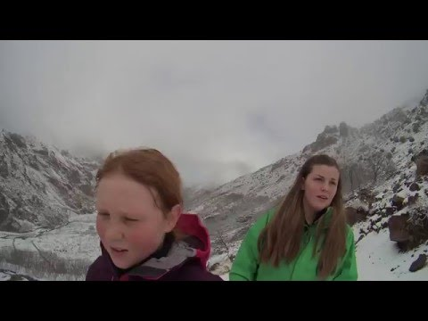 Jebel Toubkal Feb 2016 with 14 and 11 year old girls