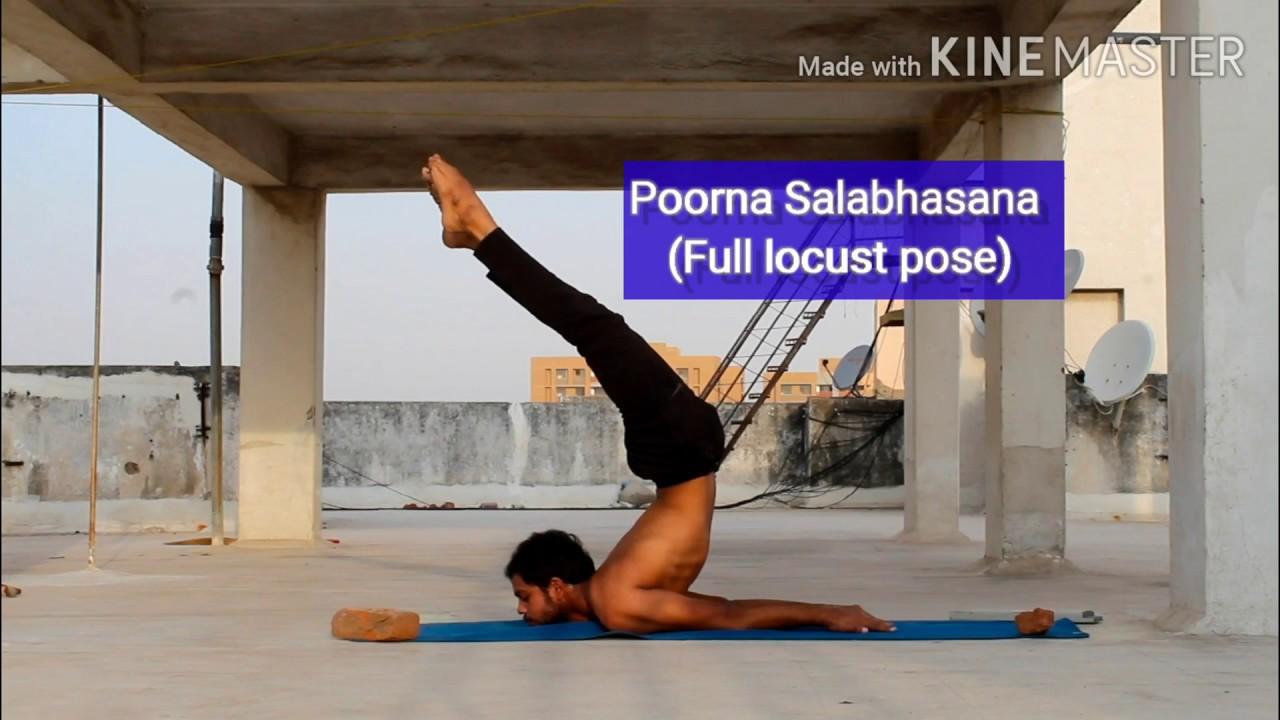 How to: Poorna Salabhasana (Full Locust Pose) - YouTube