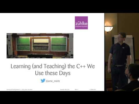 Learning (and teaching) modern C++ - Challenges and Resources - Arne Mertz [ACCU 2017]