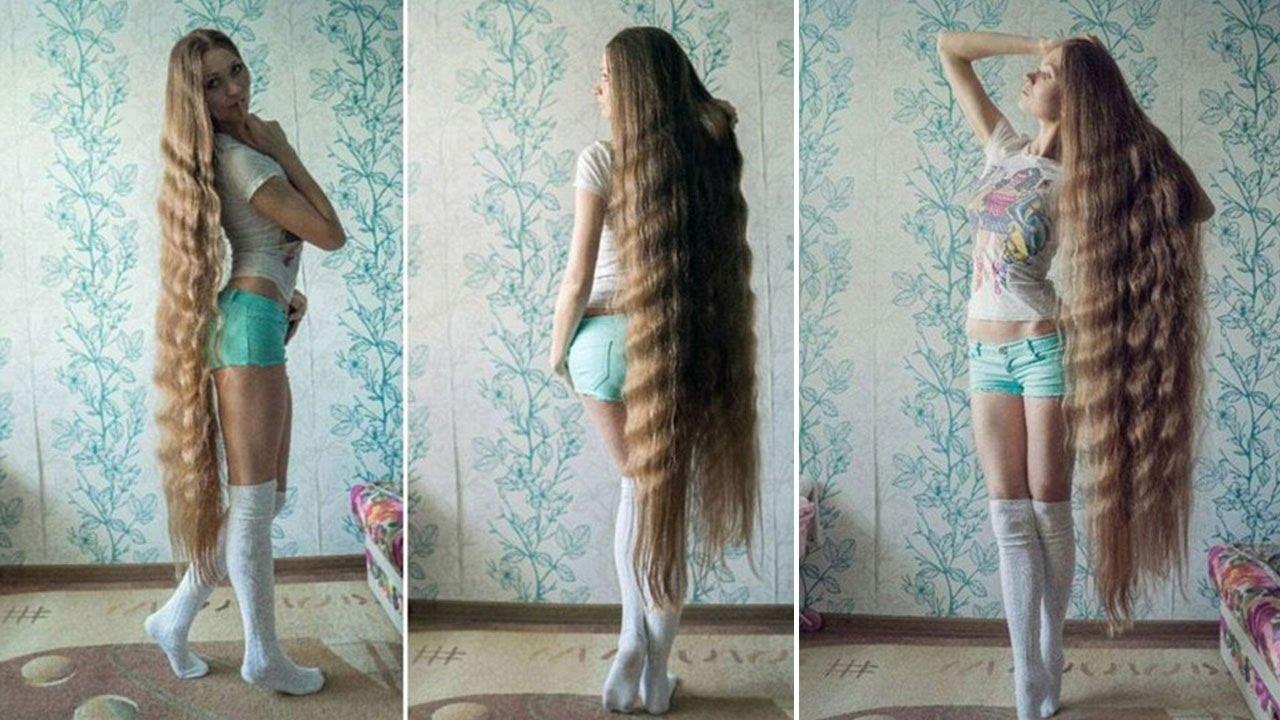 Sehr lange haare bis zum po