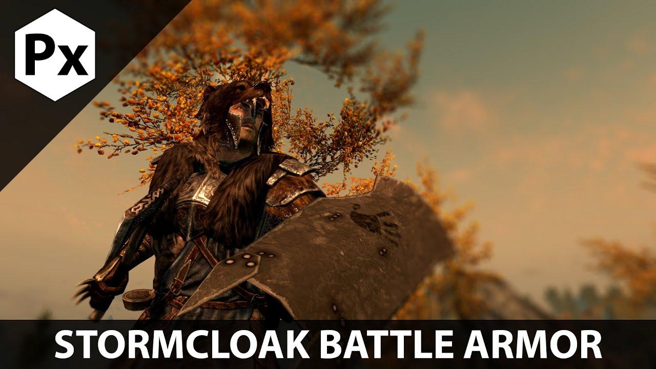 Skyrim Mod Spotlight Stormcloak Battle Armor Replacer Shield Of