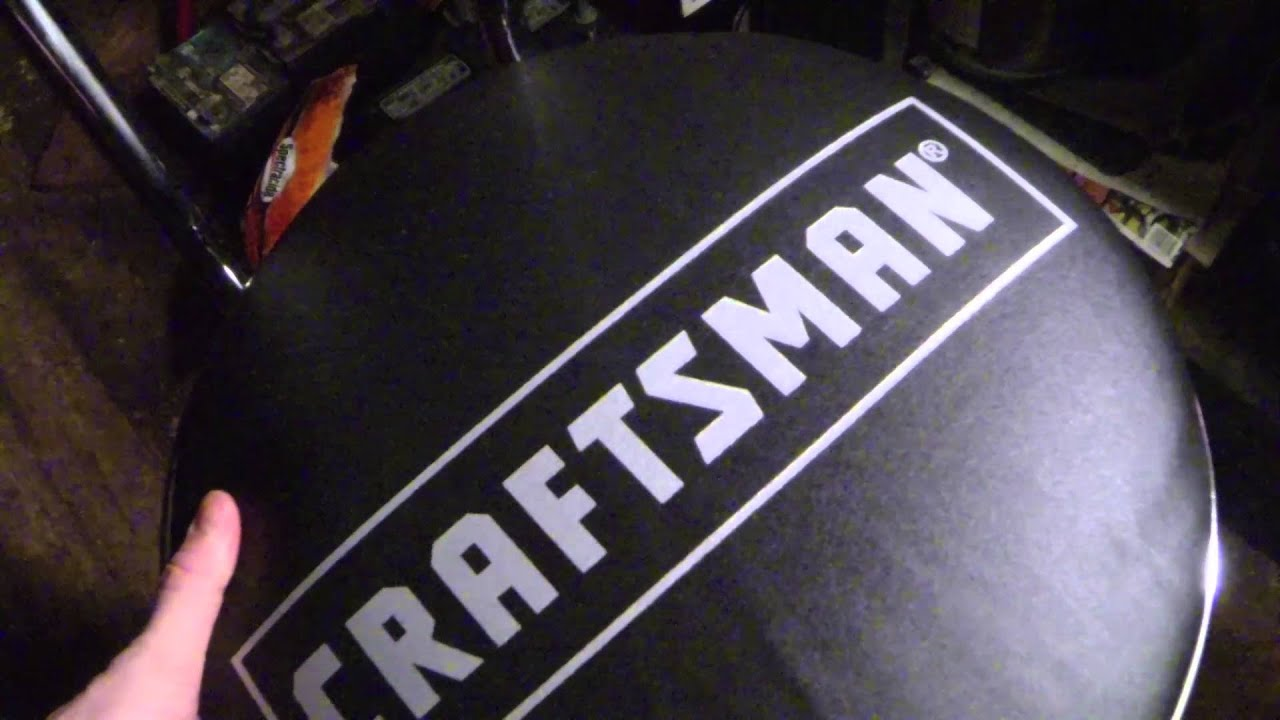 Craftsman Hydraulic shop chair review YouTube