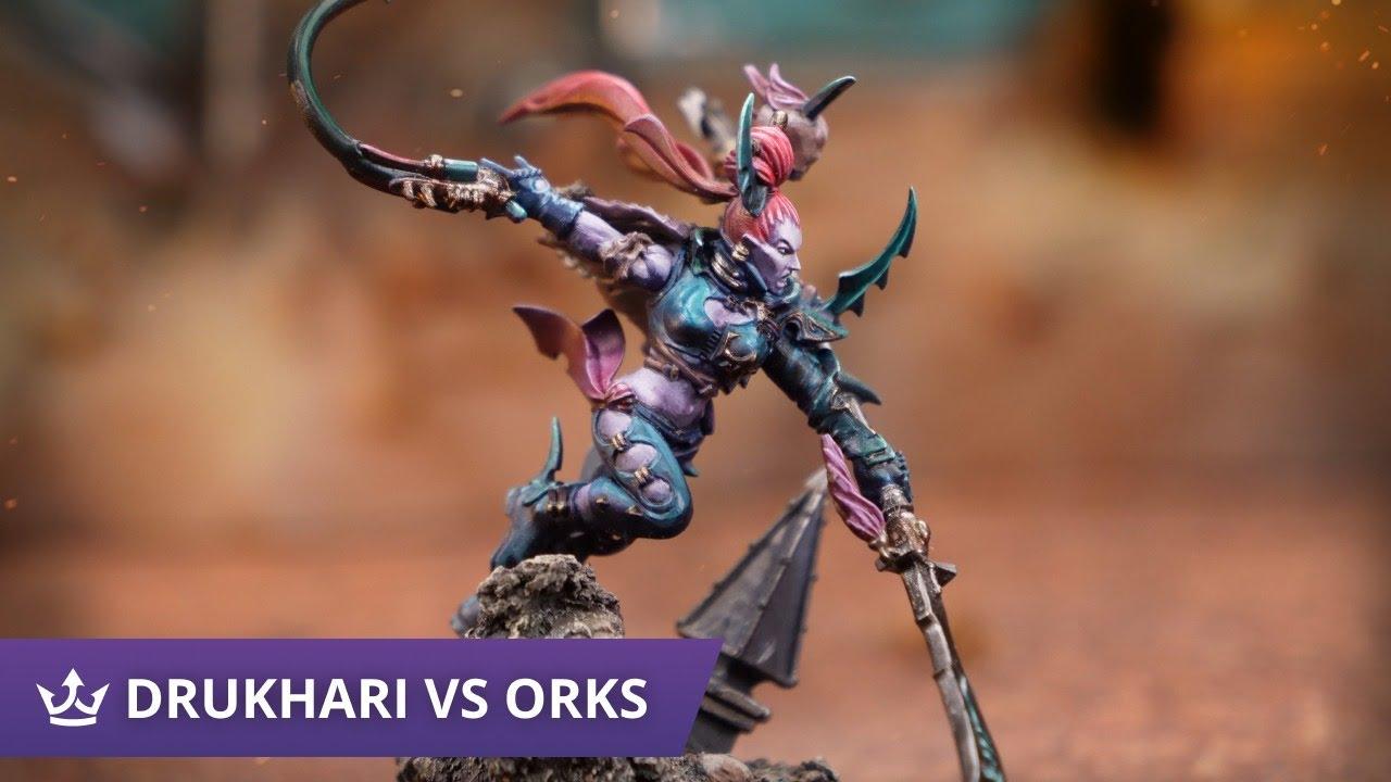 Download Drukhari vs Orks - 9th Edition Warhammer 40k Battle Report