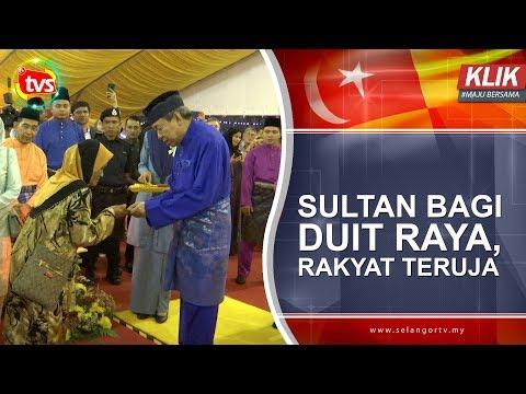 Sultan bagi duit raya, rakyat teruja