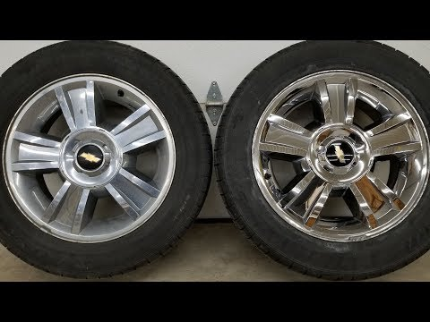 Polishing Oxidized Chrome LTZ Wheels - Before and After (2)