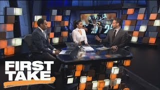 Is Antonio Brown Or Le'Veon Bell More Valuable?   First Take   February 28, 2017