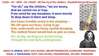 the cry of the children elizabeth barrett browning analysis