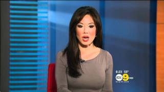 Sharon Tay 2011/12/30 8PM KCAL9 HD; Grey dress