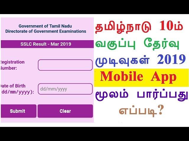 Tamilnadu Board sslc 10th results 2019: TN class 10 result declared