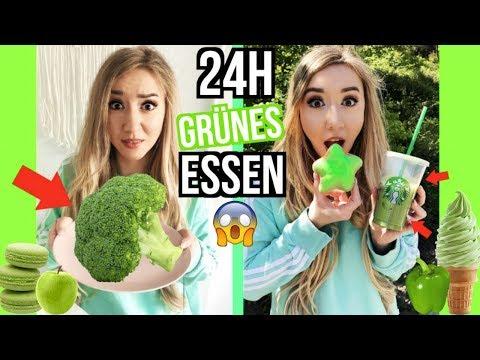 nur SHREK grünes ESSEN für 24 STUNDEN essen (FOOD Challenge)