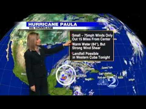Hurricane Paula Continues Trek