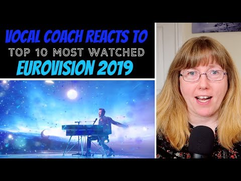 Vocal Coach Reacts to TOP 10 Most watched Eurovision 2019