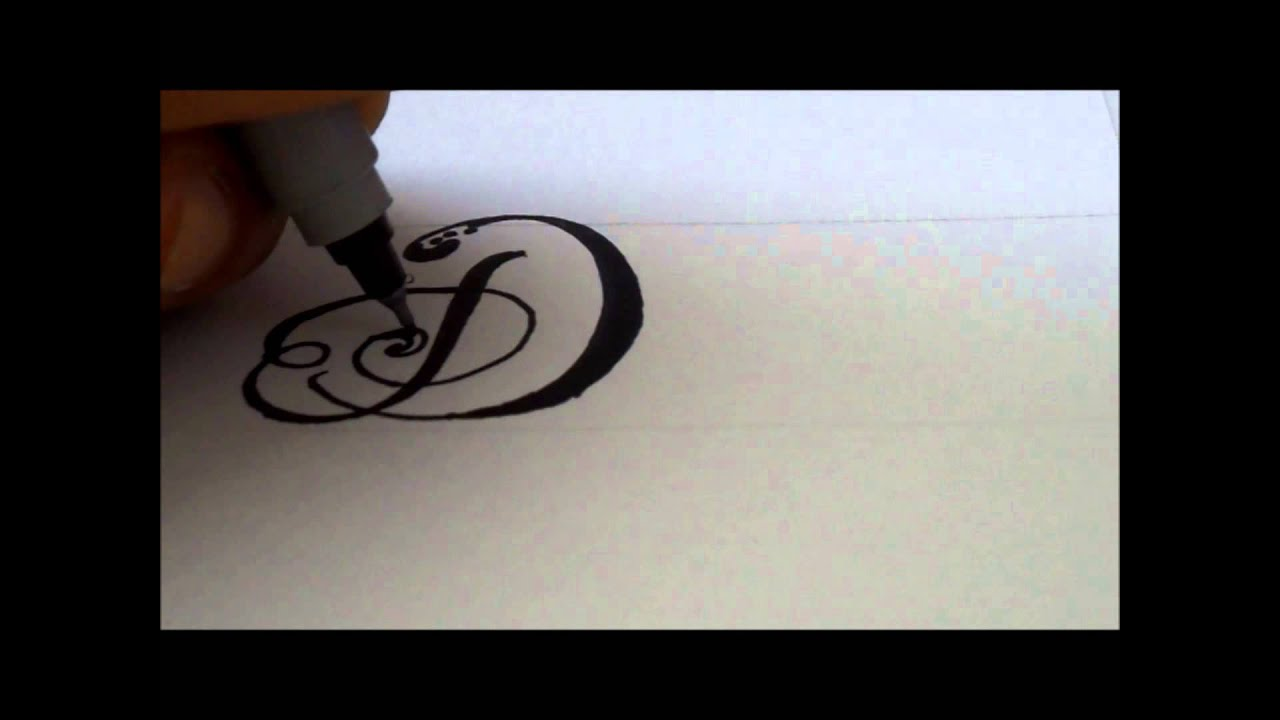 How To Draw A Fancy Swivereled Letter D