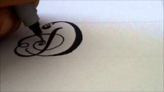 how to draw a fancy swivereled letter