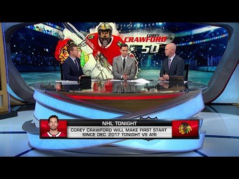 NHL Tonight:  Corey Crawford is back in net for the Blackhawks  Oct 18,  2018