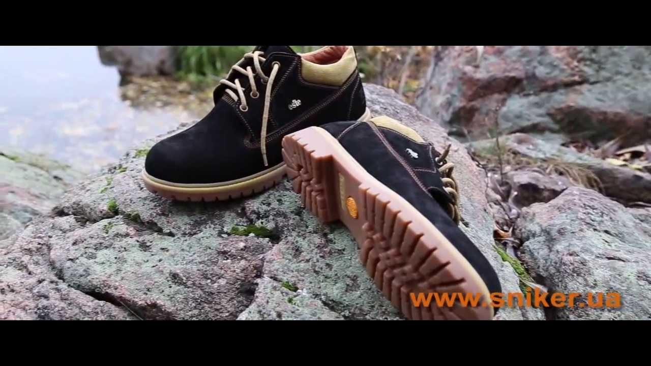 Высокие Зимние Мужские Кожаные Ботинки VLAD XL на меху ( шерсть .