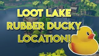Fortnite Loot Lake Rubber Ducky Location!!