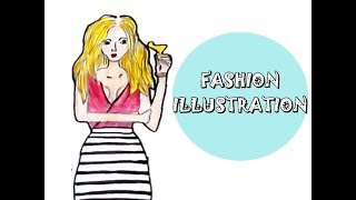How to draw fashion girl